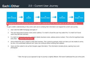 Current User Journey