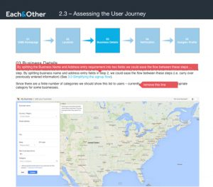 Assessing the user journey