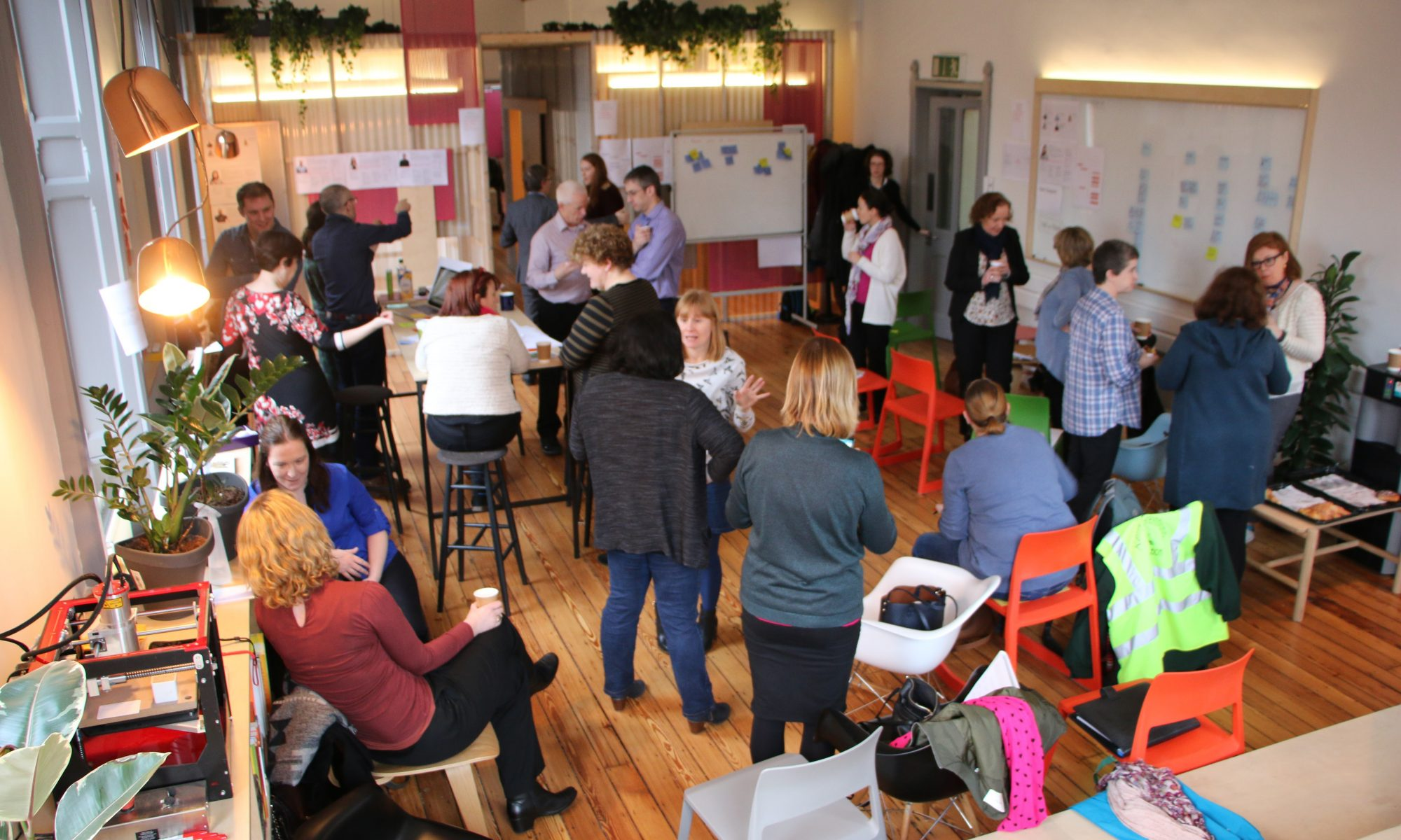Content design workshop for Dublin City Council with 30 participants