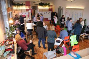 Content design workshop for Dublin City Council with 30 participants