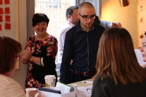 Facilitating a team during the Dublin City Council content workshop